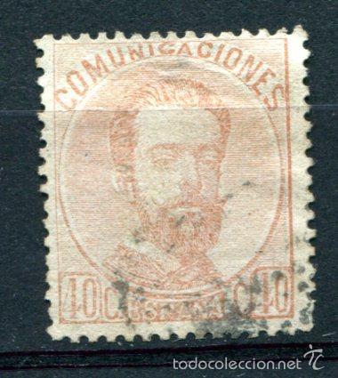 EDIFIL 125. 40 CTS AMADEO I. LIGERO ADELGAZAMIENTO EN EL FIJASELLOS (Sellos - España - Amadeo I y Primera República (1.870 a 1.874) - Usados)