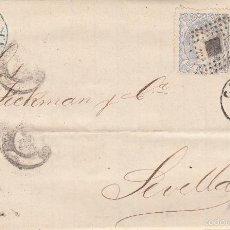 Briefmarken - CARTA DE CÁDIZ A SEVILLA .DOS SELLOS EDIFIL 107. MATº ROMBO DE PUNTOS Y FECHADOR CÁDIZ. - 55325232