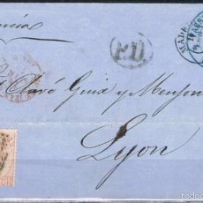 Sellos: 1873.- MADRID A LYON (FRANCIA. Lote 55881883