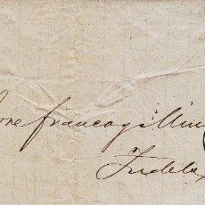 Sellos: CARTA COMPLETA CON SELLO NUM. 107 DE BENITO PICARDO DE CÁDIZ A TUDELA --1872---. Lote 56744862