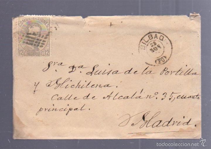 CARTA DIRIGIDA DE BILBAO A MADRID. VER SELLO (Sellos - España - Amadeo I y Primera República (1.870 a 1.874) - Cartas)