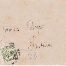 Sellos: CARTA: 1872 SEVILLA - SANTIAGO / SELLO 1/4 CENT. DE PESETA. Lote 57365111