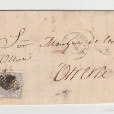 Sellos: CARTA DE SEVILLA A UTRERA DEL 19 MARZO 1872. FRANQUEADO CON EDIFIL 107,MATASELLO ROMBO DE PUNTOS Y. Lote 57755213