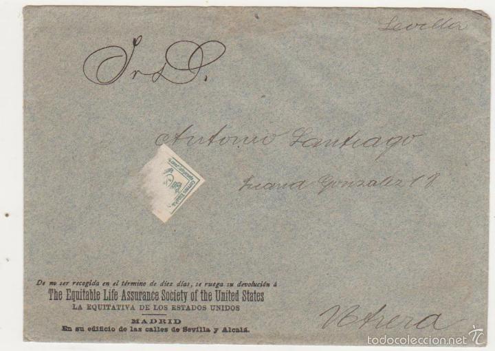 CARTA CON MEMBRETE DE MADRID. FRANQUEADO(PROBABLEMETE DE SEVILLA A UTRERA CON 1/4 DE EDIFIL 130. (Sellos - España - Amadeo I y Primera República (1.870 a 1.874) - Cartas)