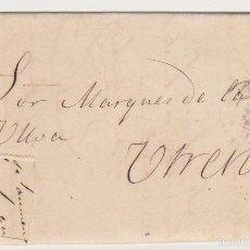 Sellos: CARTA DE SEVILLA A UTRERA DEL 28 MAYO 1870. FRANQUEO CORTADO. FECHADOR DE SEVILLA. Y AL DORSO-. Lote 57906720