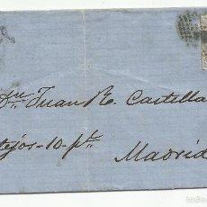 Sellos: CIRCULADA 1872 DE TORRELAVEGA SANTANDER A MADRID. Lote 58410524