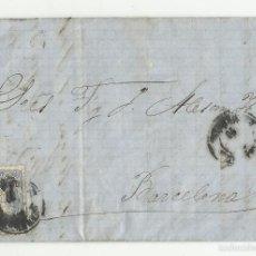 Sellos: CIRCULADA Y ESCRITA 1870 DE SABADELL A BARCELONA . Lote 58412152