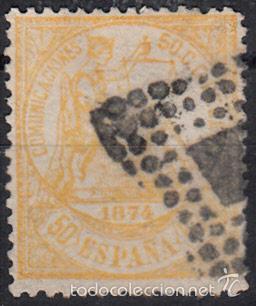 EFIGIE ALEGORICA DE LA JUSTICIA - 50 CENTIMOS - AÑO 1874 EDIFIL Nº 149 USADO (Sellos - España - Amadeo I y Primera República (1.870 a 1.874) - Usados)