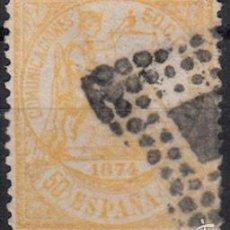 Sellos: EFIGIE ALEGORICA DE LA JUSTICIA - 50 CENTIMOS - AÑO 1874 EDIFIL Nº 149 USADO. Lote 60294095