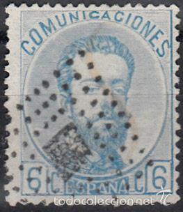 EDIFIL 119 USADO. 1872 AMADEO I. MATº ROMBO DE PUNTOS CON ROMBO. (Sellos - España - Amadeo I y Primera República (1.870 a 1.874) - Usados)