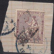 Sellos: EDIFIL 136 S/FRAG. 1873 ALEGORÍA DE ESPAÑA. MATº ROMBO DE PUNTOS Y MATº FRANCÉS FECHADOR.. Lote 60325099