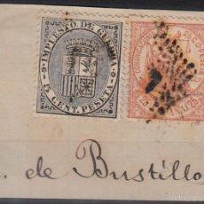 Sellos: EDIFIL 147 Y 141 S/FRAG. USADO. 1874 ESCUDO DE ESPAÑA. MATº ROMBO DE PUNTOS.. Lote 60327103