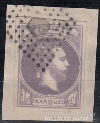 EDIFIL 158 USADO. 1874 CARLOS VII. MATº ROMBO DE PUNTOS. CERTIFICADO COMEX. (Sellos - España - Amadeo I y Primera República (1.870 a 1.874) - Usados)
