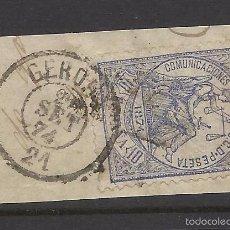 Sellos: 1874 EDIFIL 145 FECHADOR GERONA GIRONA. Lote 60394587
