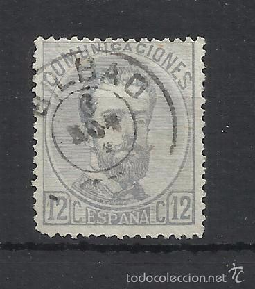 1872 AMADEO SABOYA EDIFIL 122 FECHADOR BILBAO VALOR 2016 CATALOGO 3.-- EUROS (Sellos - España - Amadeo I y Primera República (1.870 a 1.874) - Usados)