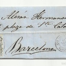 Sellos: CIRCULADA Y ESCRITA 1870 GOBIERNO PROVISIONAL EDIFIL 107 DE ARENYS DE MAR A BARCELONA BARRIL DE PEZ. Lote 60927251