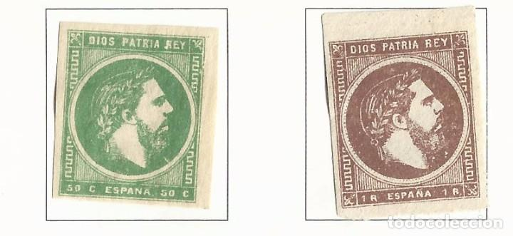 1875 CARLISTAS EDIFIL 160-161 NUEVOS* VALOR 2016 CATALOGO 30.- EUROS SERIE COMPLETA (Sellos - España - Amadeo I y Primera República (1.870 a 1.874) - Nuevos)