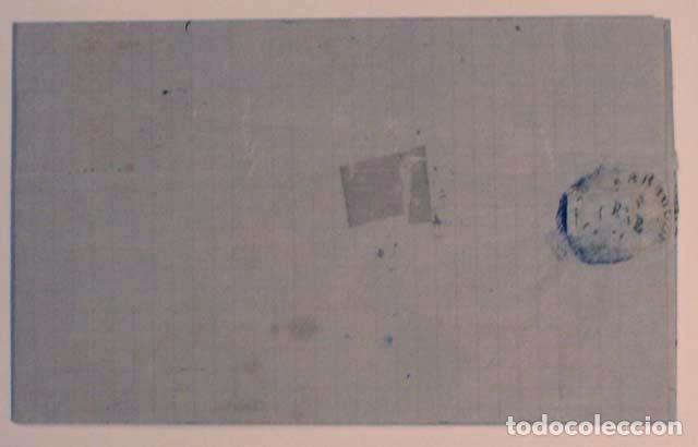 Sellos: ANTIGUO SOBRE CARTA COMERCIAL 1871 DE BARCELONA A ZARAGOZA, SELLO GOBIERNO PROVISIONAL - Foto 2 - 62752380