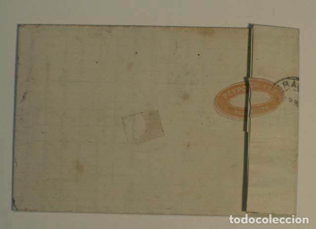 Sellos: ANTIGUO SOBRE CARTA COMERCIAL 1871 DE BARCELONA A ZARAGOZA, SELLO GOBIERNO PROVISIONAL - Foto 2 - 62752524