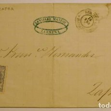 Sellos: ANTIGUO SOBRE 18XX DE LLERENA A ZAFRA, SELLO GOBIERNO PROVISIONAL. Lote 62761956