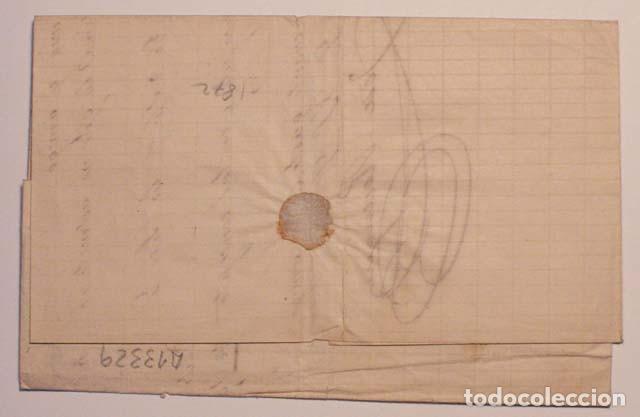 Sellos: ANTIGUO SOBRE CARTA COMERCIAL 1872 DE MERIDA A ZAFRA, SELLO GOBIERNO PROVISIONAL - Foto 2 - 62762148