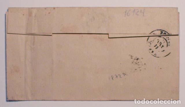 Sellos: ANTIGUO SOBRE 1871 A ZAFRA, SELLO GOBIERNO PROVISIONAL - Foto 2 - 62762324
