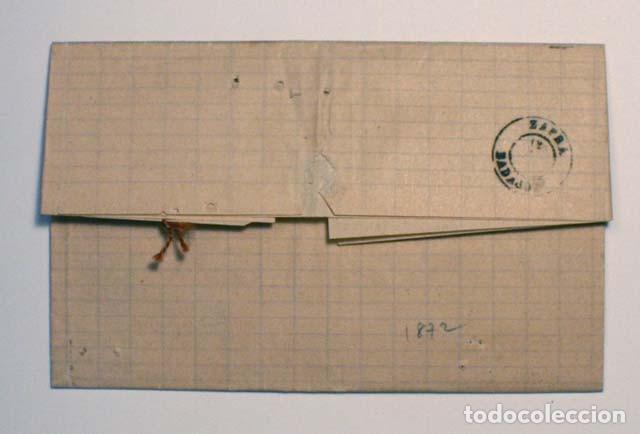 Sellos: ANTIGUO SOBRE CARTA COMERCIAL 1872 SEVILLA A ZAFRA, SELLO GOBIERNO PROVISIONAL - Foto 2 - 62762540