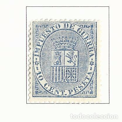 1874 PRIMERA REPUBLICA EDIFIL 142 NUEVO(*) VALOR 2016 CATALOGO 19.50 EUROS IMPUESTO GUERRA (Sellos - España - Amadeo I y Primera República (1.870 a 1.874) - Nuevos)