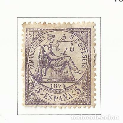 1874 PRIMERA REPUBLICA EDIFIL 144 NUEVO(*) VALOR 2016 CATALOGO 53.-- EUROS (Sellos - España - Amadeo I y Primera República (1.870 a 1.874) - Nuevos)