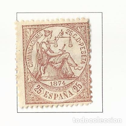 1874 PRIMERA REPUBLICA EDIFIL 147 NUEVO(*) VALOR 2016 CATALOGO 53.-- EUROS (Sellos - España - Amadeo I y Primera República (1.870 a 1.874) - Nuevos)