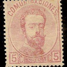 Sellos: EDIFIL 118* 5 CÉNTIMOS ROSA 1872 AMADEO I NL589. Lote 63970823