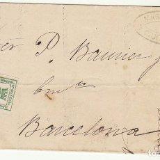 Sellos: SELLO 130A. CORONA MURAL. CIUDAD REAL A BARCELONA. 1877.. Lote 64553975