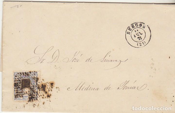 SELLO 107. BURGOS A MEDINA DE POMAR (BURGOS). 1851 (Sellos - España - Amadeo I y Primera República (1.870 a 1.874) - Cartas)