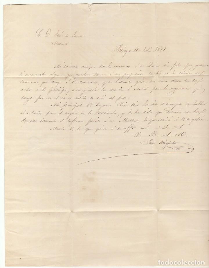 Sellos: Sello 107. BURGOS a MEDINA DE POMAR (BURGOS). 1851 - Foto 2 - 66517646