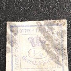 Sellos: USADO - EDIFIL 115 1/4 - SPAIN 1872 CORONA CIFRAS AMADEO I. Lote 70263613