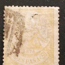 Sellos: USADO - EDIFIL 149 - SPAIN 1874 ALEGORIA DE LA JUSTICIA. Lote 71107845