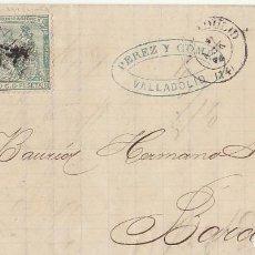 Sellos: SELLOS 133 Y 141 : VALLADOLID A BARCELONA .1874.. Lote 72207927