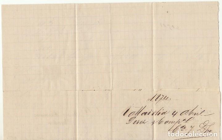 Sellos: Sellos 133 y 141 : VALLADOLID a BARCELONA .1874. - Foto 2 - 72207927