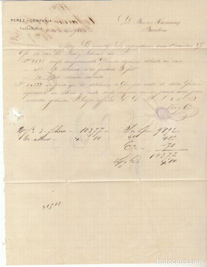 Sellos: Sellos 133 y 141 : VALLADOLID a BARCELONA .1874. - Foto 3 - 72207927
