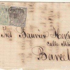 Sellos: SELLOS 133 Y 141 : REUS A BARCELONA . 1874. Lote 72208375
