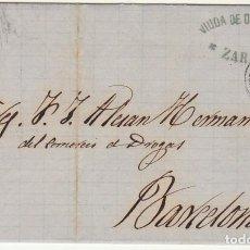 Sellos: SELLO 107 : ZARAGOZA A BARCELONA. 1872.. Lote 73626471