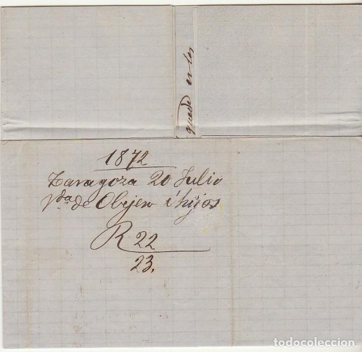 Sellos: Sello 107 : ZARAGOZA a BARCELONA. 1872. - Foto 3 - 73626471