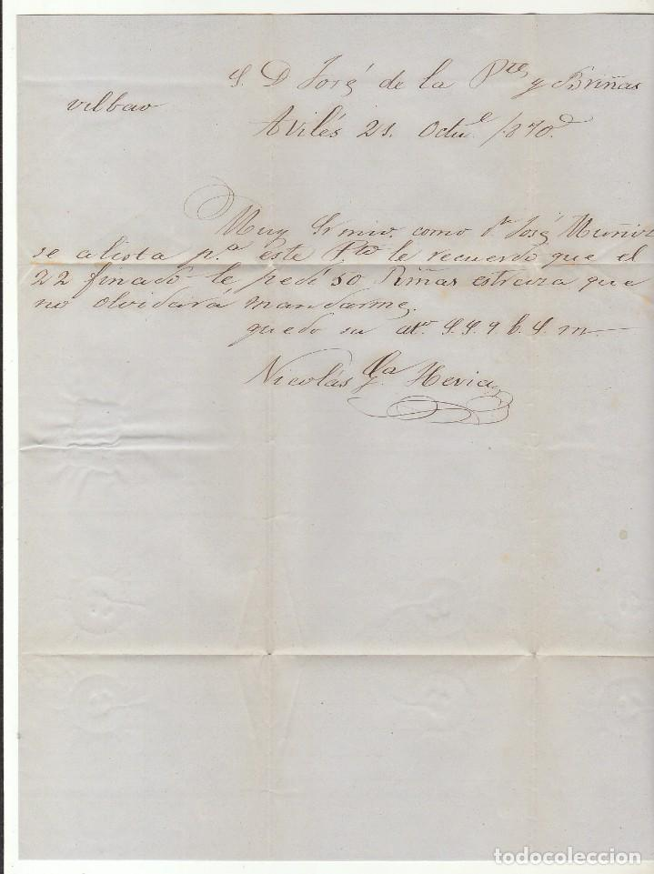 Sellos: Sello 107 : AVILES a BILBAO. 1870. - Foto 3 - 73626867