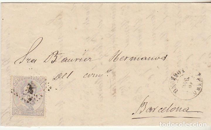 SELLO 122 . HARO A BARCELONA . (Sellos - España - Amadeo I y Primera República (1.870 a 1.874) - Cartas)