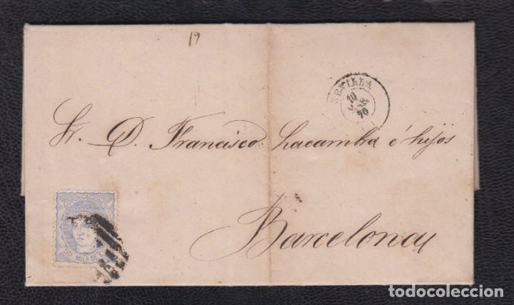 1870.- SEVILLA A BARCELONA (Sellos - España - Amadeo I y Primera República (1.870 a 1.874) - Cartas)