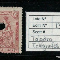 Sellos: I REPUBLICA ALEGORÍA ESPAÑA (4 PESETAS 1873). EDIFIL 139 T. USADO TELÉGRAFOS. Lote 75104815