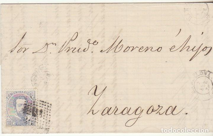 SELLO 121. BARCELONA A ZARAGOZA. 1873. (Sellos - España - Amadeo I y Primera República (1.870 a 1.874) - Cartas)