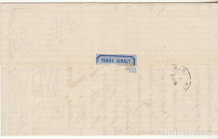 Sellos: Sello 121. BARCELONA a ZARAGOZA. 1873. - Foto 2 - 75195951