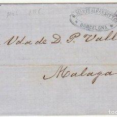 Sellos: SELLO 133 : BARCELONA A MALAGA. 1873.. Lote 75479959