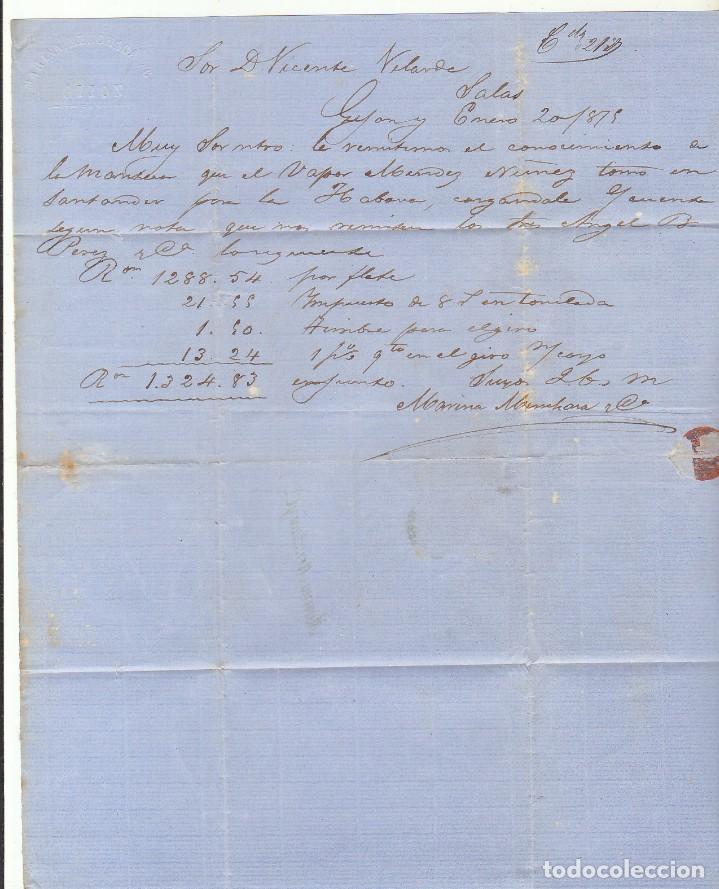 Sellos: SELLOS 153 y 154 : GIJON a SALAS. 1875. - Foto 2 - 75483435